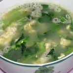青菜鸡蛋汤的做法