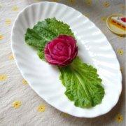 萝卜玫瑰花的做法