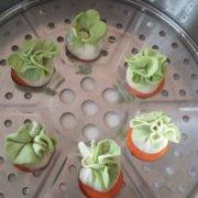 翡翠白菜蒸饺的做法
