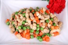 豌豆炒鸡米的做法视频
