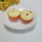 橙香蛋羹的做法