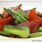 红菜苔炒腊肉的做法