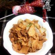 白菜炒干豆腐的做法