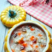 胡萝卜皮蛋瘦肉粥的做法