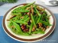 肉丝炒刀豆的做法