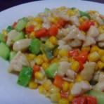 青瓜玉米胡萝卜鸡肉炒的做法