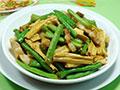 腐竹五花肉炒梅豆的做法