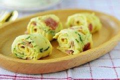 黄瓜鸡蛋培根煎饼的做法