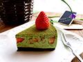 抹茶草莓慕斯蛋糕的做法
