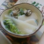 白菜牡蛎年糕汤