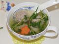 豌豆苗肉丸汤——窗台上的小菜园的做法