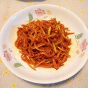 素炒胡萝卜丝的做法