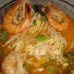 金针鲜虾汤的做法