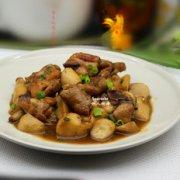 酱香鸡爆杏鲍菇的做法