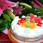 鲜奶油水果蛋糕的做法