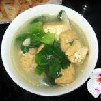 油豆腐青菜汤的做法