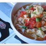 鸭汤增色—西红柿鸡蛋面条