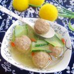 牛肉丸黄瓜汤的做法