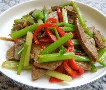 【芹菜炒猪肝的做法】芹菜炒猪肝怎么做好吃_芹菜炒猪肝的营养价值