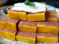 蛋皮猪肝午餐肉的做法