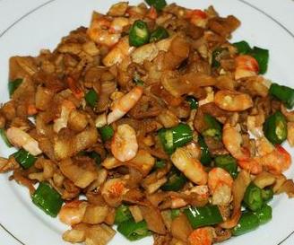 萝卜干炒河虾的做法视频