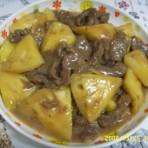菠萝炒牛肉