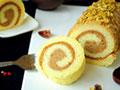 戚风栗蓉蛋糕卷的做法