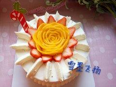 芒果花奶油蛋糕的做法