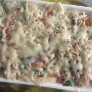 香菇火腿焗饭的做法