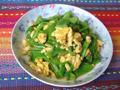菠菜梗炒鸡蛋的做法