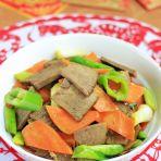 胡萝卜牛肉片的做法