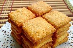 冰砂卤花生酥饼的家常做法