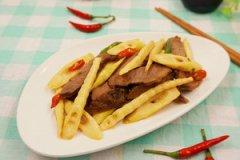 脆笋炒牛肉的家常做法