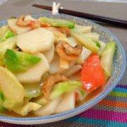 虾米炒年糕的做法