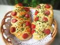 野葱香肠面包的做法