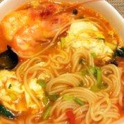 西红柿大虾混汤面的做法