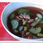 紫米青豆鸡蛋汤