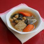 胡萝卜菜干生鱼汤的做法