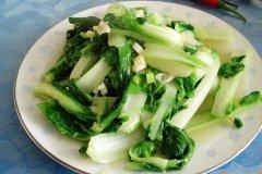 清炒小白菜的做法视频