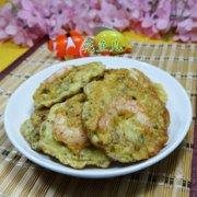 虾仁雪菜鸡蛋饼的做法