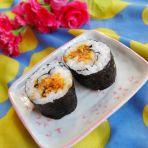 胡萝卜肉松寿司的做法