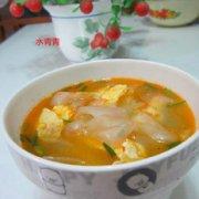 鸡蛋粉皮汤的做法