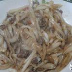 牛肉炒大白菜茎的做法