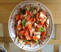 【清炒胡萝卜杏鲍菇】肉片胡萝卜杏鲍菇的做法_清炒胡萝卜杏鲍菇的食