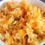 胡萝卜炒饭的做法