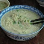 蘑菇汤面的做法