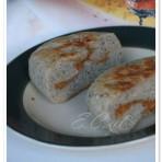 紫米花生酱发面饼