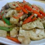 煎豆腐炒肉的做法