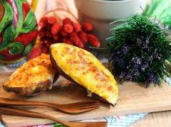 芝士奶油焗红薯的做法视频