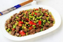 毛豆炒牛肉的家常做法